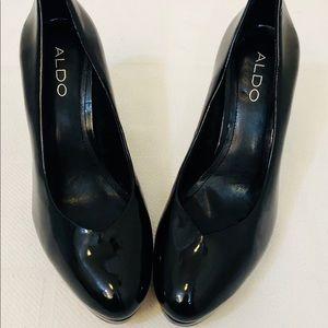 Black Aldo women's pump/heel 4 inch heel size 8